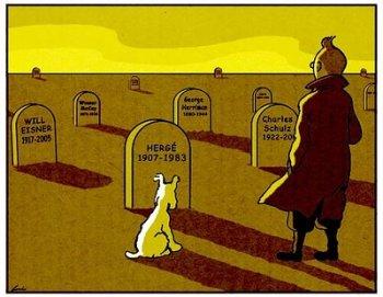 Tintín Tintinofilia tumba Hergé